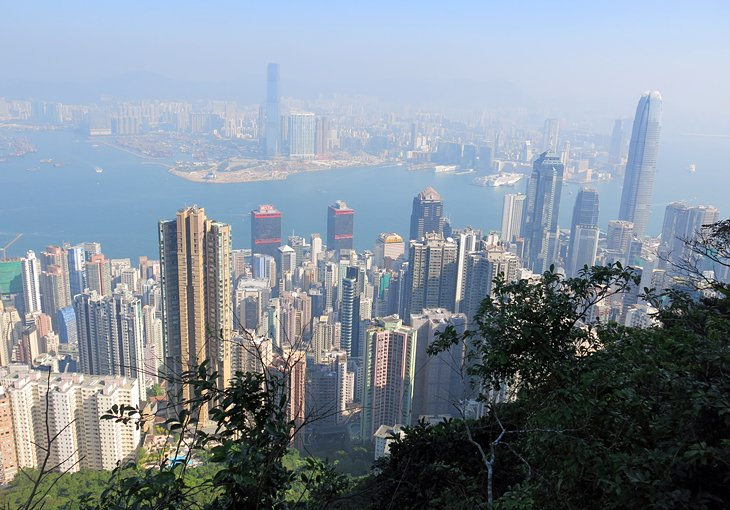 View over Hong Kong from Peak Trail