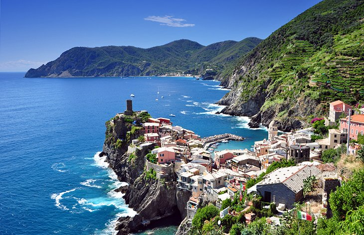 Vernazza and Coastline on the Cinque Terre