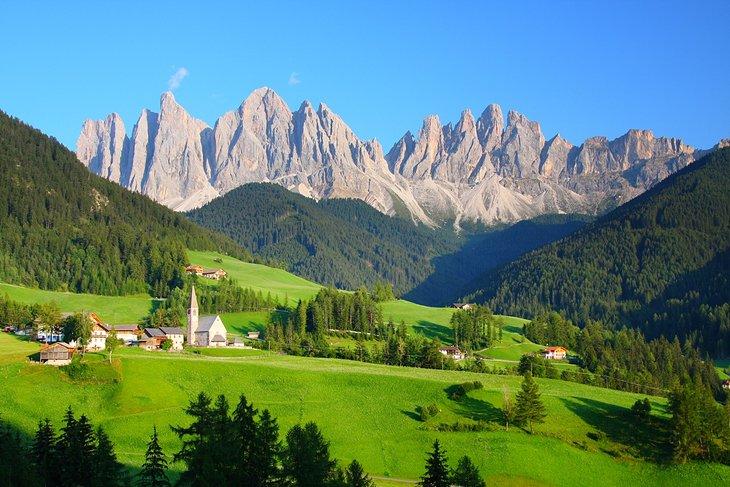Cortina and the Dolomite Mountains
