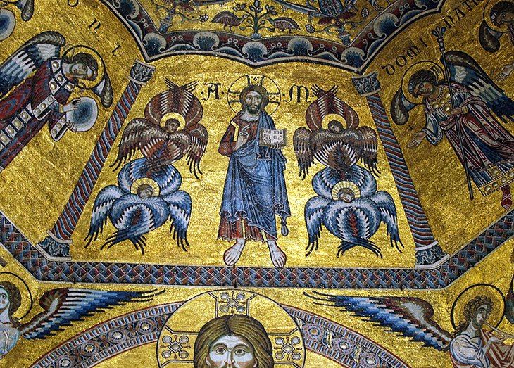Baptistery mosaic ceiling