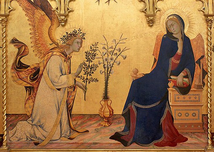 <i>Annunciation</i> by Simone Martini &amp; Lippo Memmi (14th-Century Tuscan Art)