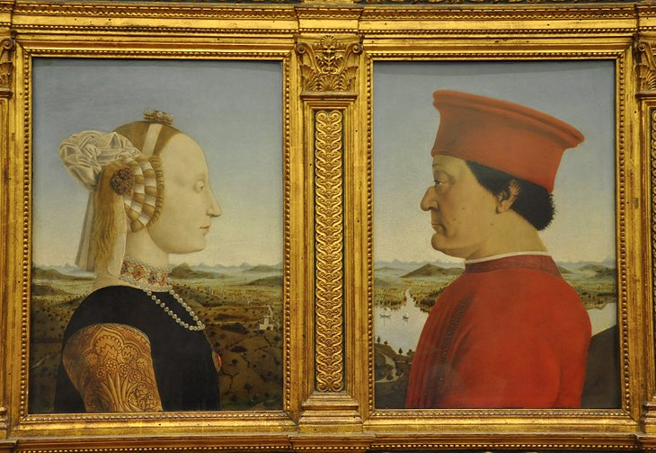 <i>Portraits of the Duke and Duchess of Urbino</i> by Piero della Francesca