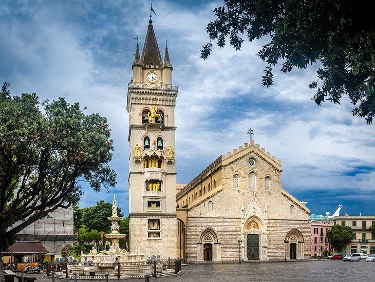 Catedral y plaza del Duomo de Messina