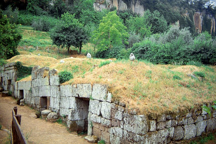 Etruscan Buildings and Necropolis