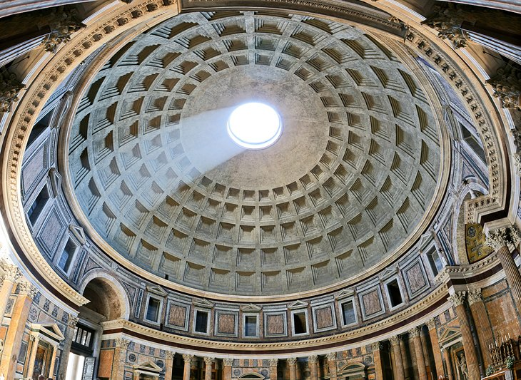 Look through the Hole in the Pantheon's Roof