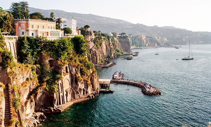 Cliffs along the waterfront at Sorrento