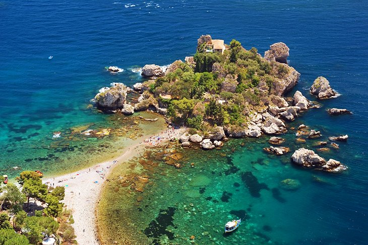 Small-group Taormina Coastline and Isola Bella Boat Tour ... |Isola Bella Island Tour