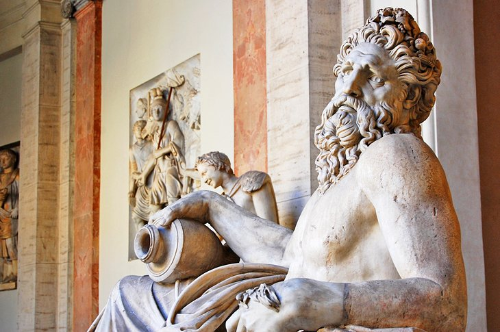 Sculpture of River god Arno at the Pio Clementino Museum, Vatican City