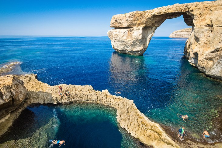 Snorkeling at the Azure Window on Gozo
