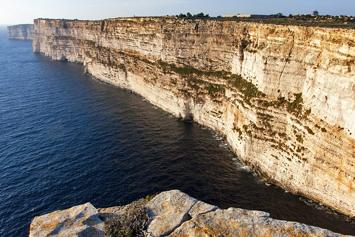 The Dramatic Scenery at Ta'Cenc Cliffs