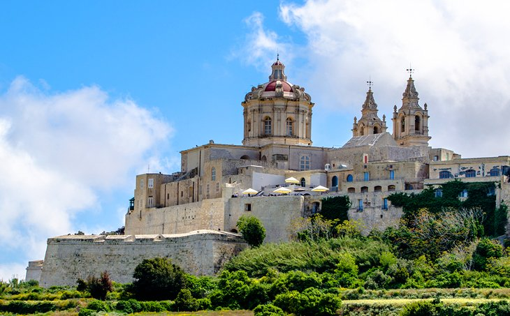 The Medieval Hilltop Town of Mdina, Island of Malta