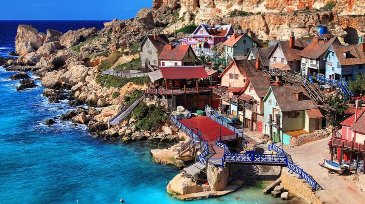 Family Fun Times at Popeye Village, Island of Malta