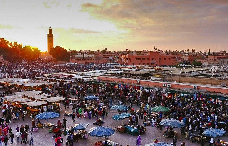 بازدید از شهر قدیمی مراکش