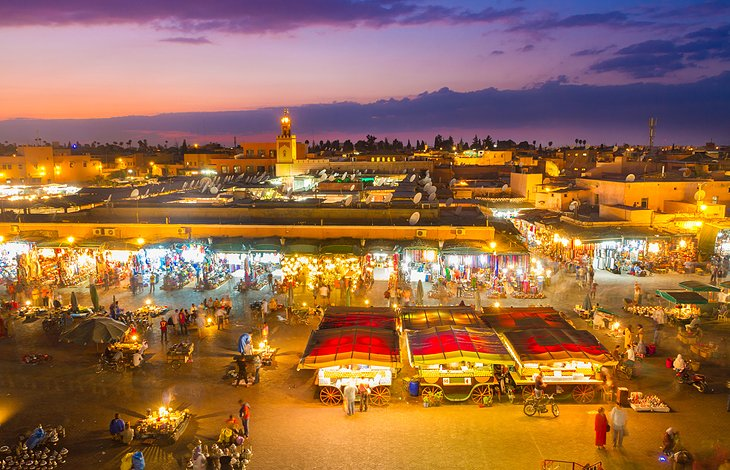 The medina in Marrakesh