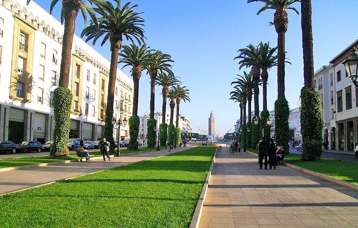morocco rabat new city main avenue