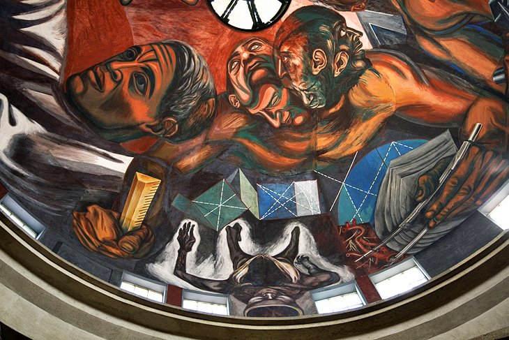 Jose Clemente Orozco Mural at the University of Guadalajara