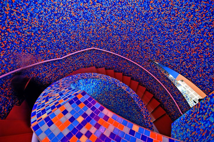 Multicolored stairway