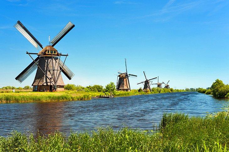 Cosa vedere nei Paesi Bassi I mulini a vento di Kinderdijk