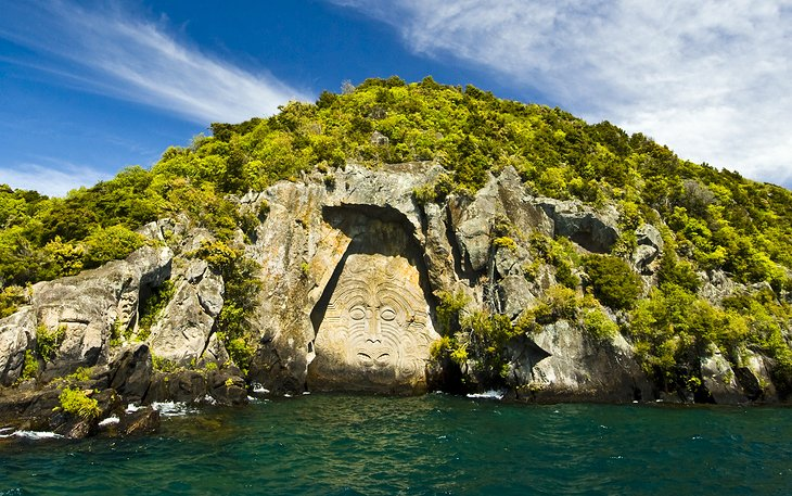 Mine Bay Maori Rock Carvings