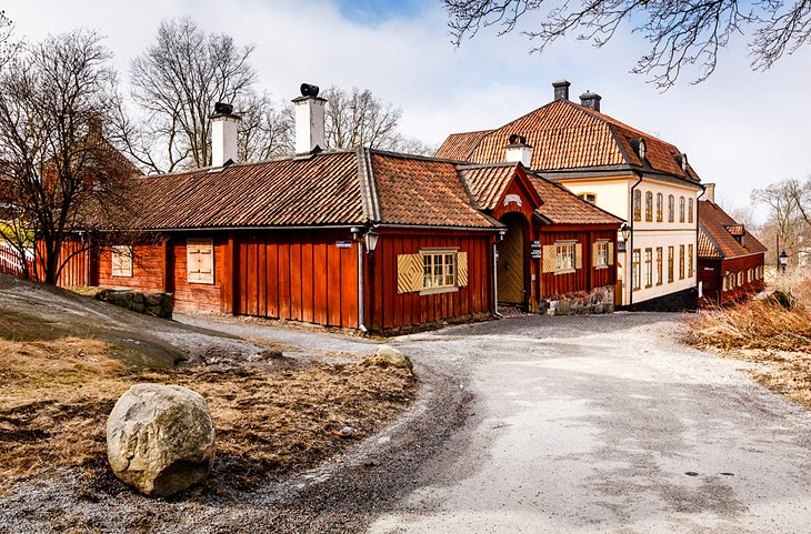 Traditional Swedish houses in Skansen National Park