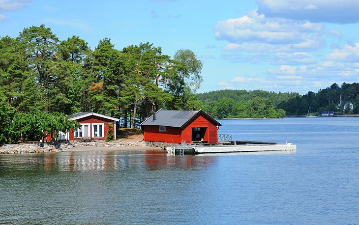 House on a small island near Stockholm
