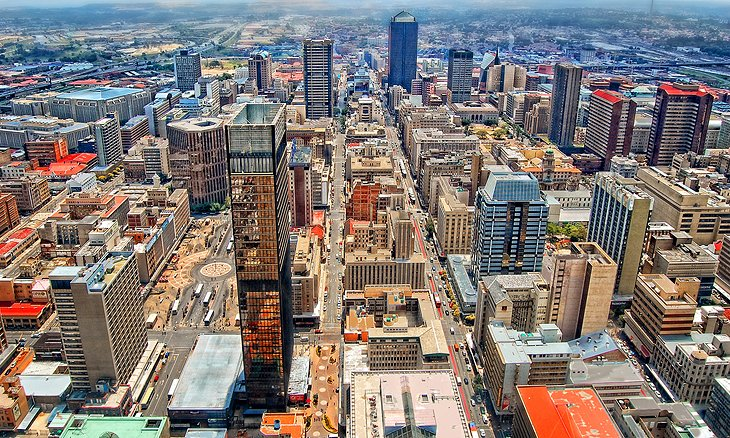 Aerial view of Johannesburg