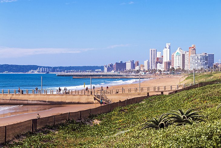 Beach and skyline of Durban