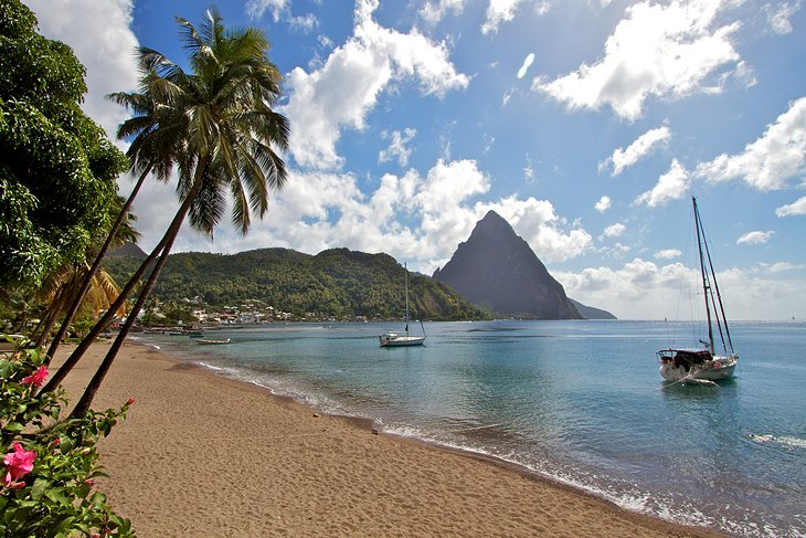 Beach On St Lucia
