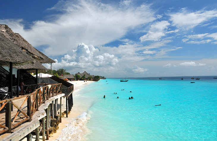 The island of Zanzibar, beautiful beaches.