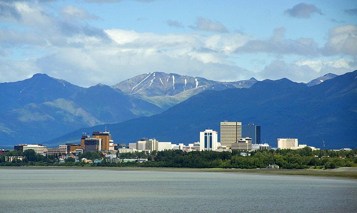 Anchorage Alaska From Earthquake Park