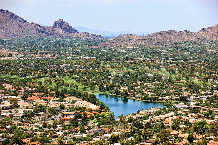 Aerial view from Scottsdale