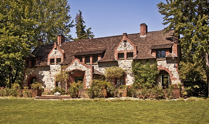 Tudor Cottage of Empire Mine owner in Grass Valley