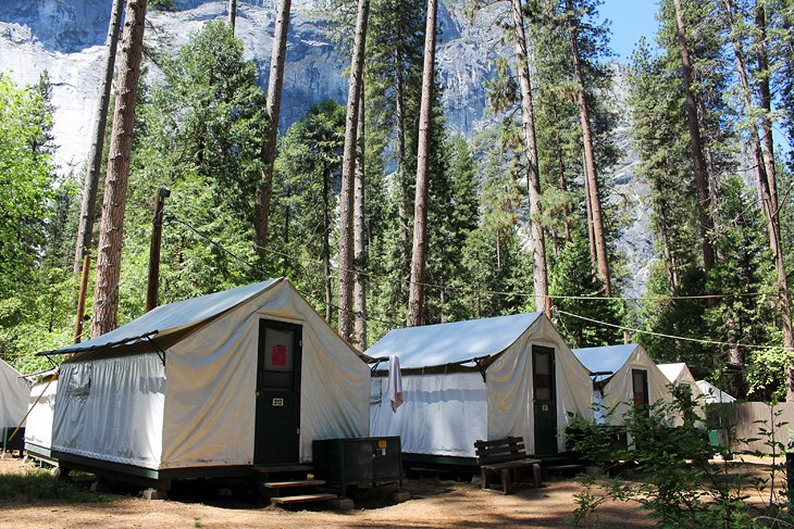 5 Tents and Cabins at Half Dome Village & 10 Best Campgrounds at Yosemite National Park | PlanetWare