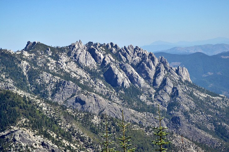 The spectacular Castle Crags from the Northern California PCT