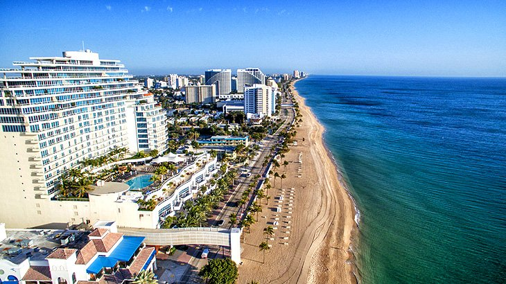 Fort Lauderdale Skyline And Beach