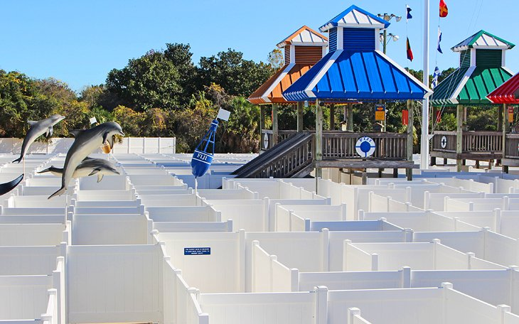 The maze at Coconut Creek Family Fun Park