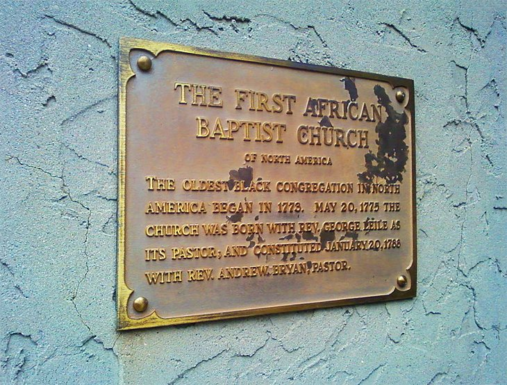 Historic Marker on the First African Baptist Church