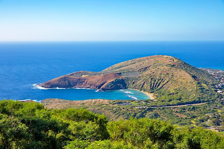 View from the top of Koko Crater Railway Trail
