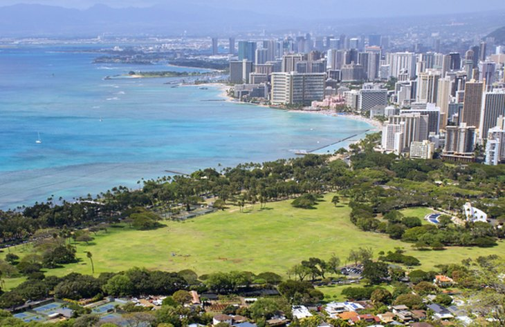 Kapiolani Park and Queen Kapiolani Garden