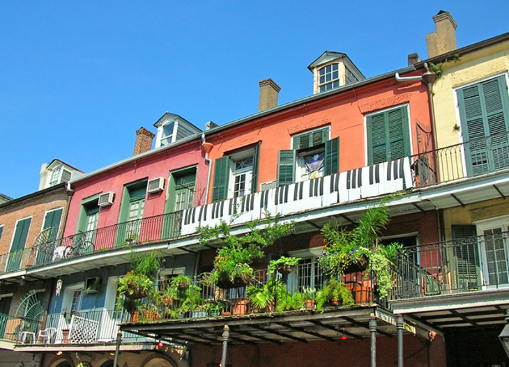 12 TopRated Tourist Attractions in Louisiana – New Orleans French Quarter Tourist Map