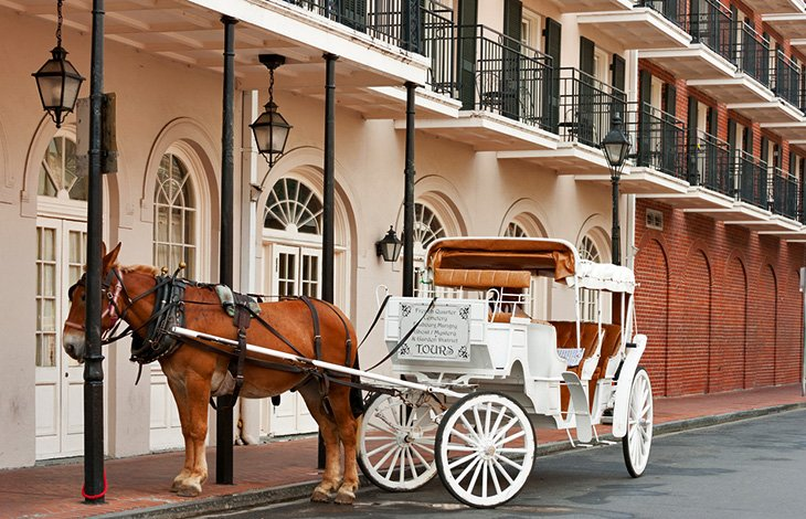 Horse-drawn carriage in the French Quarter