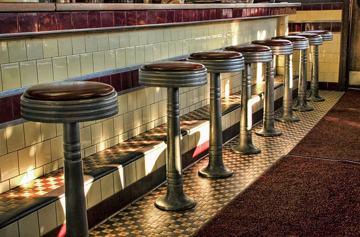 Stools at a Diner in Worcester