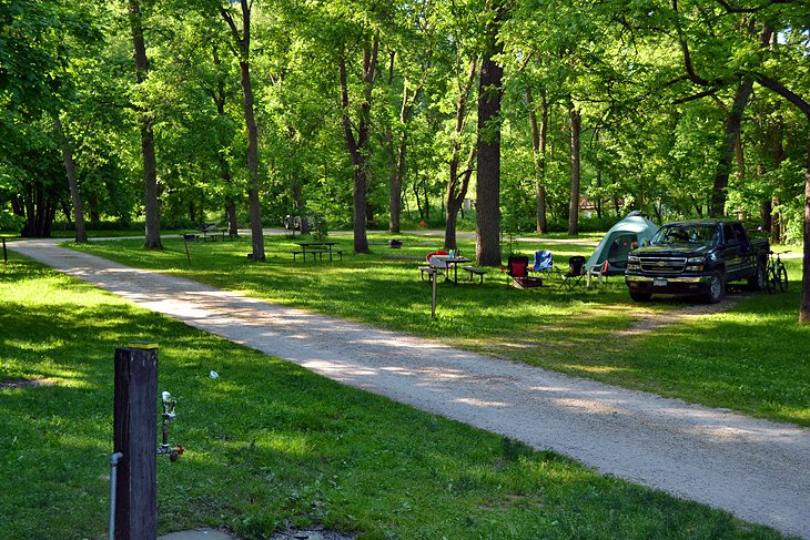 Cedar Hill Campground, Whitewater State Park