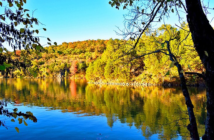 Lake of the Ozarks in autumn