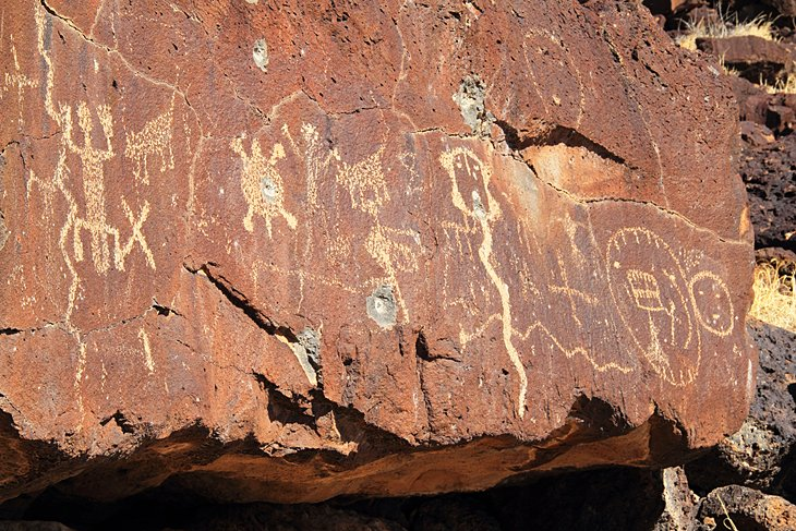 Ancient Native American rock art along the Rinconada Trail