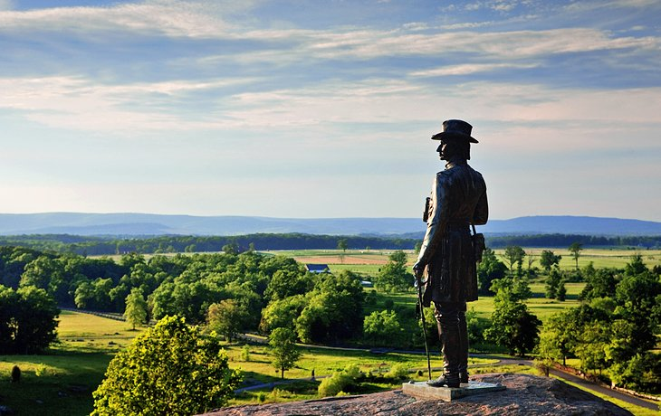 Statue of General. G.K. Warren at Little Round Top