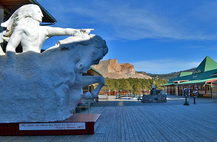 Crazy Horse Memorial viewing deck near Big Pine Campground