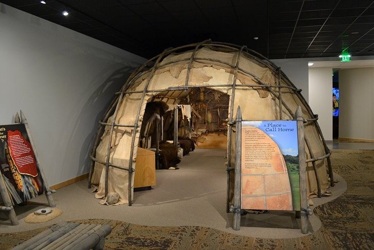 A domed domicile on display at the Good Earth State Park visitor center