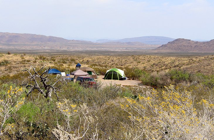 Primitive Roadside Campsites in Big Bend National Park