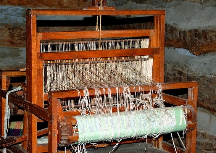 Weaving Loom at the Log Cabin Village